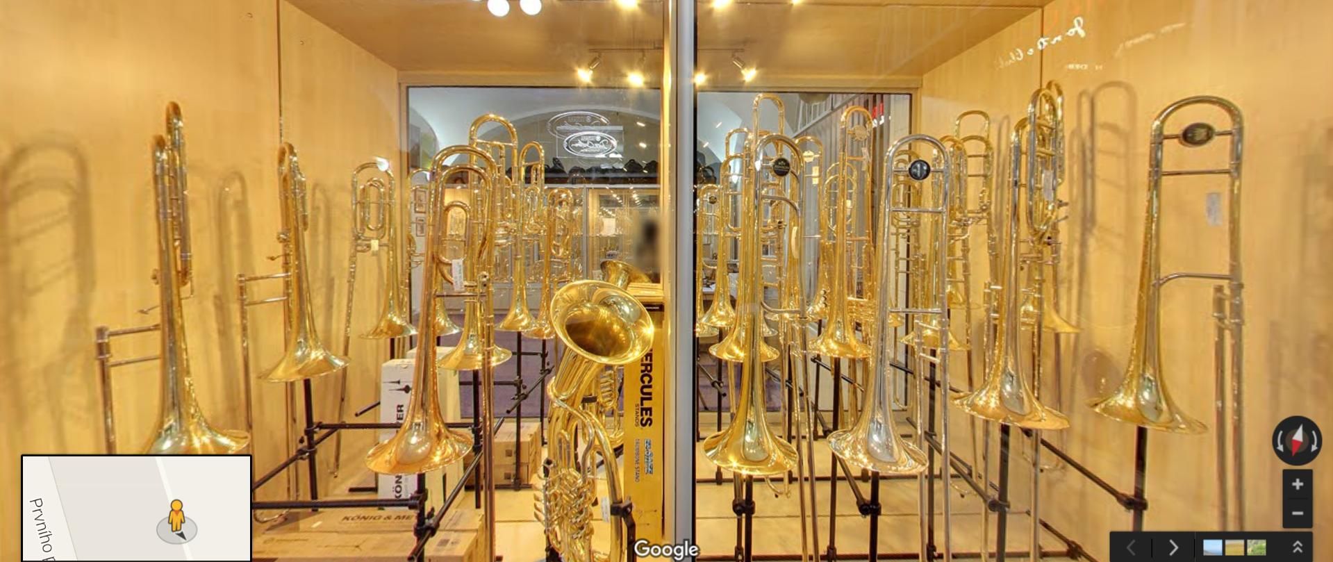 Google Street View virtuální prohlídka pro Arnold Kinkal - Brass Studio Prague