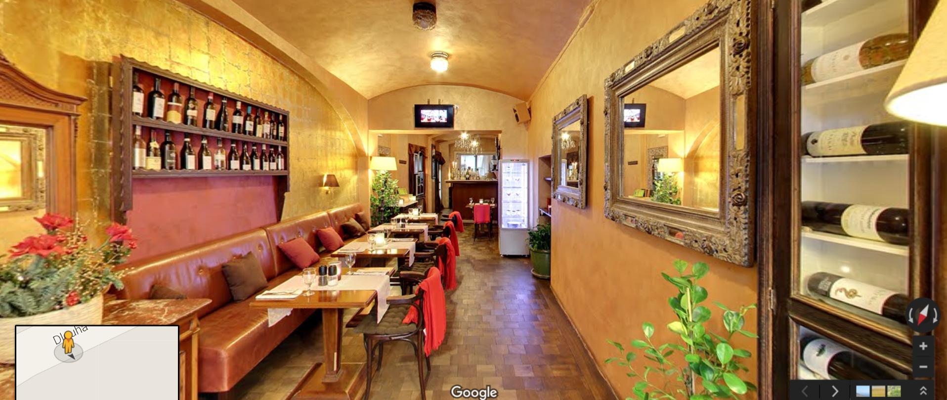 Google Street View virtuální prohlídka pro Restaurace_Anna_Praha